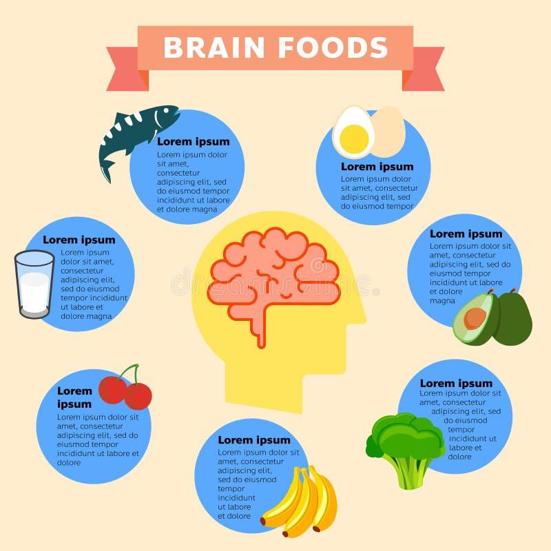 Brain Foods infographics stock illustration