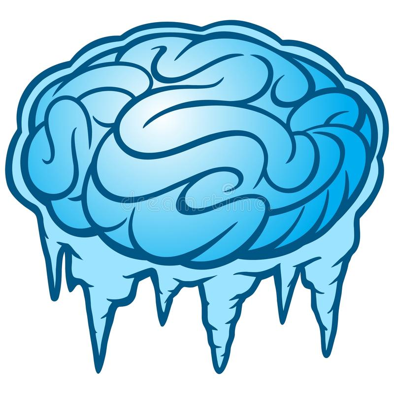 Brain Freeze stock abbildung