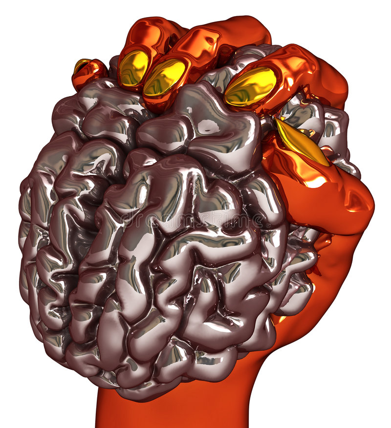 Download Brain Grasp stock illustration. Image of clever, holding - 8350911