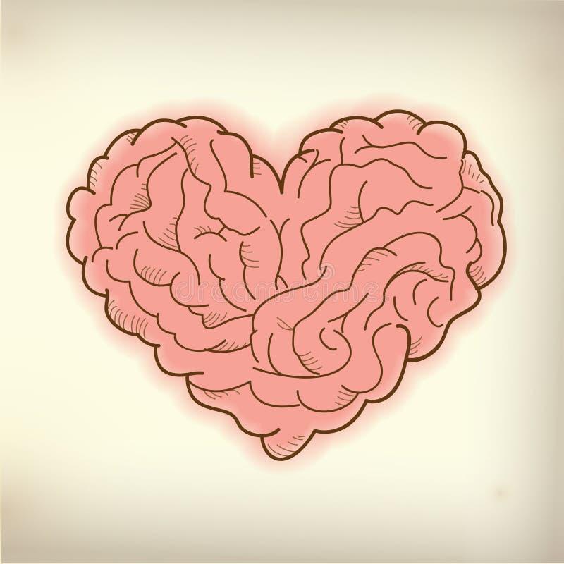 Brain Heart royalty-vrije illustratie