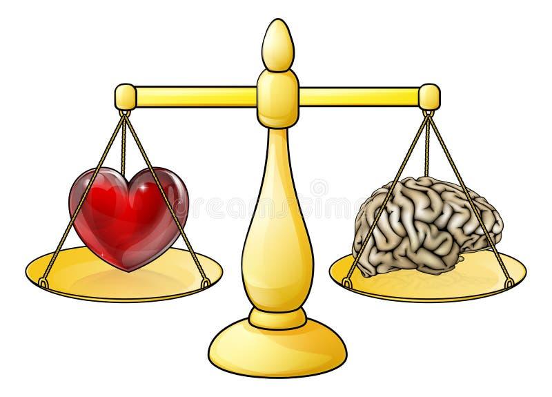Brain Heart Scales Concept vektor abbildung