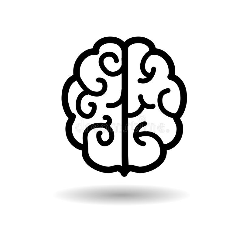Brain Icon vektor illustrationer