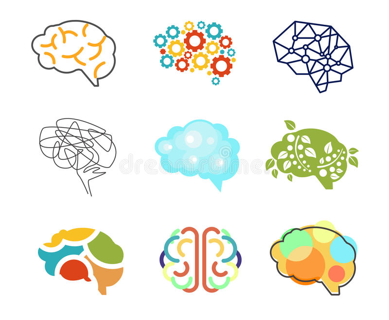 Brain Icon ilustración del vector
