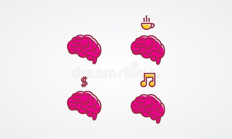 Brain Icon royaltyfri illustrationer