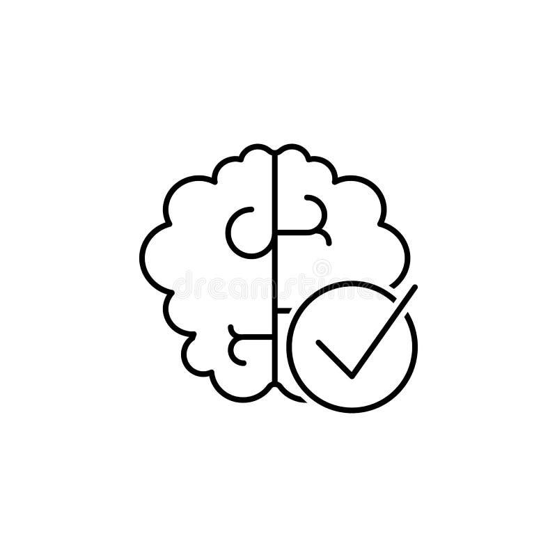 Brain icon. Element of interview icon stock illustration