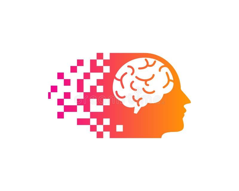 Brain Icon Logo Design Element vektor abbildung