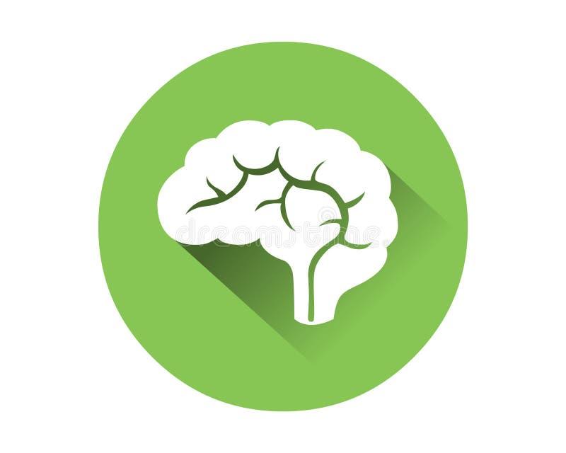 Brain Icon Mänskligt inre organ stock illustrationer