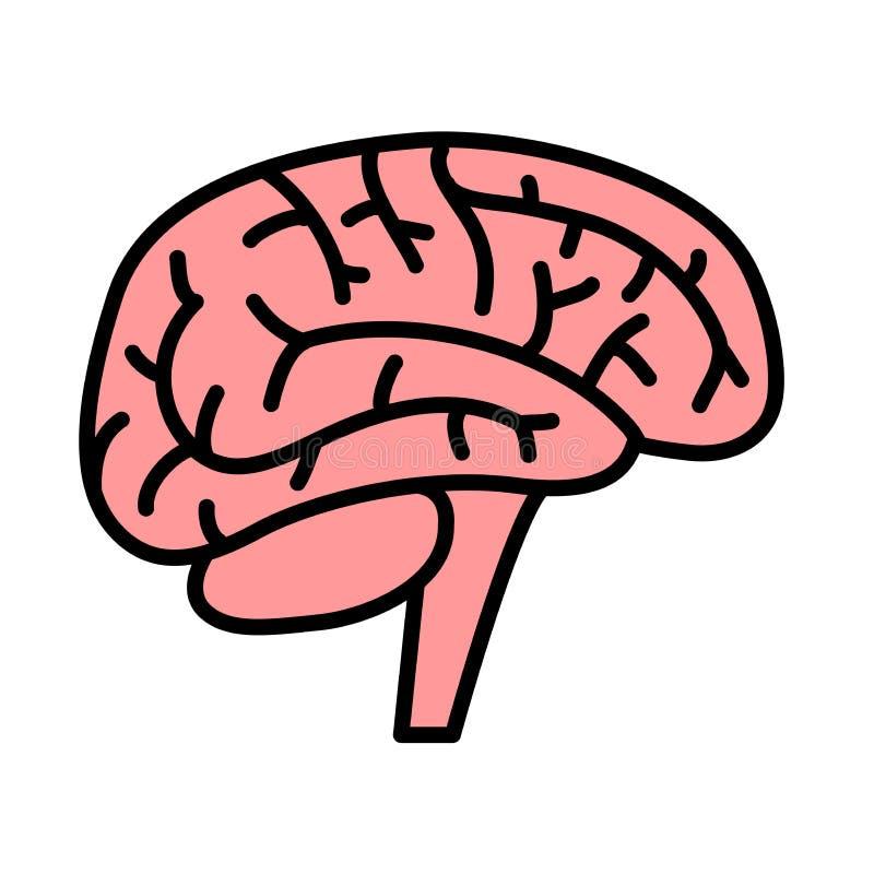 Brain Icon Professionnel, icônes parfaites de pixel optimisées pour de grandes et petites résolutions illustration stock