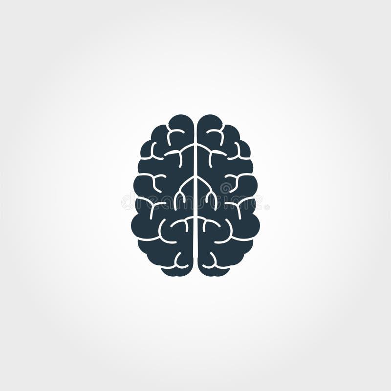 Brain Icon Progettazione monocromatica premio dalla raccolta dell'icona di istruzione Icona creativa del cervello per uso di stam illustrazione di stock