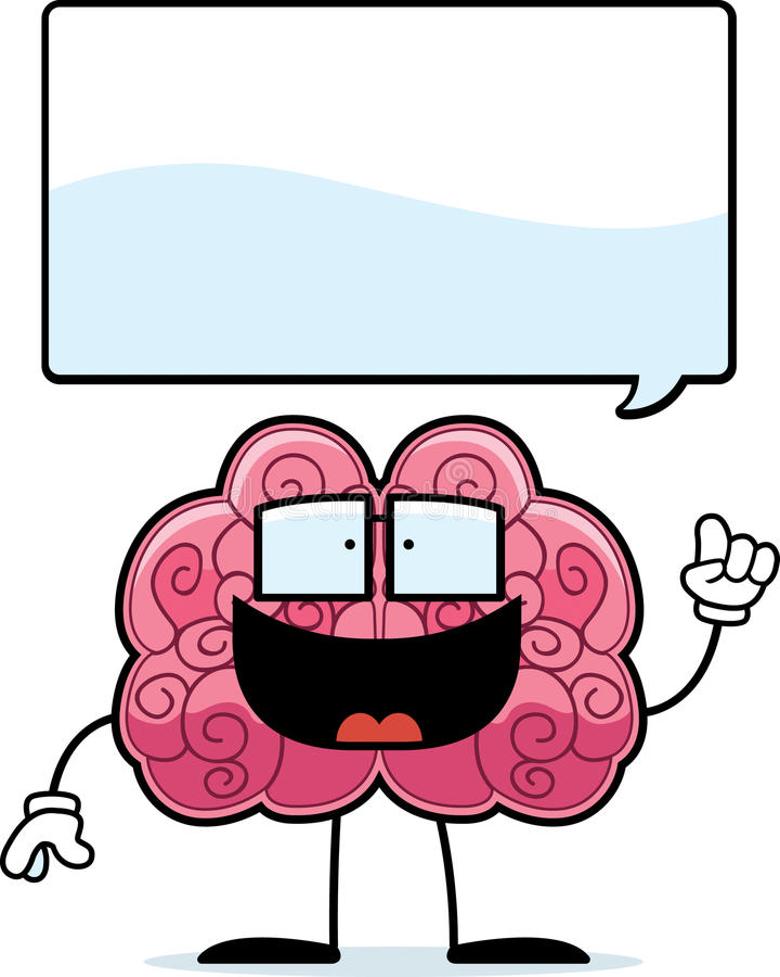 Download Brain Idea stock vector. Illustration of smiling, glasses - 15024897