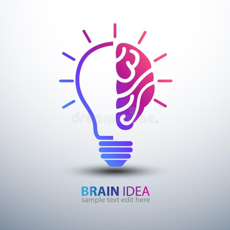Brain idea royalty free illustration