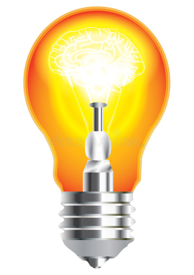 Free Brain In Bulb_eps Stock Images - 20893134