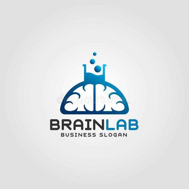 Brain Lab Logo Template royalty free illustration