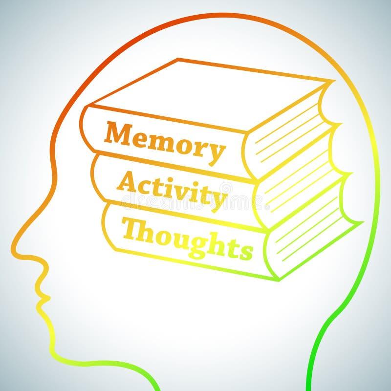 Brain Learning 1 ilustração do vetor