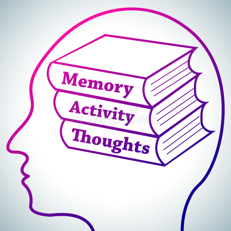 Brain Learning 1 ilustração royalty free
