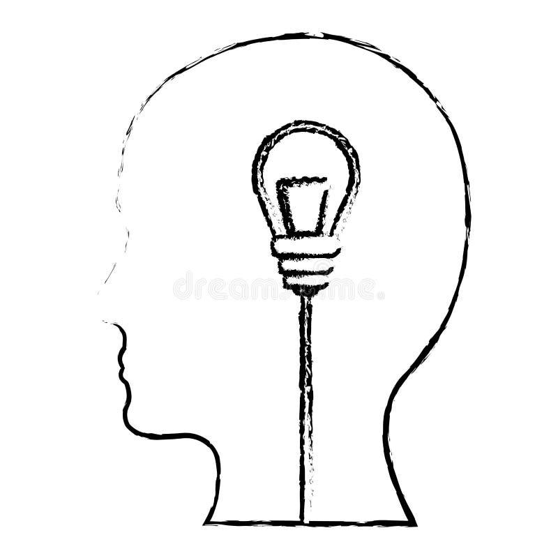 Download Brain And Lightbulb Bright Idea Icon Image Stock Illustration