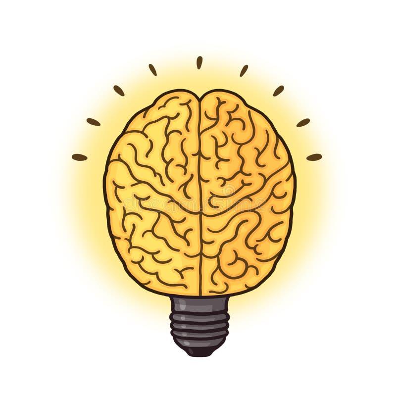 Download Brain Lightbulb Illustration Stock Illustration - Image: 85922242