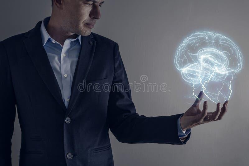 Brain Lihtning Strike fotografia de stock royalty free
