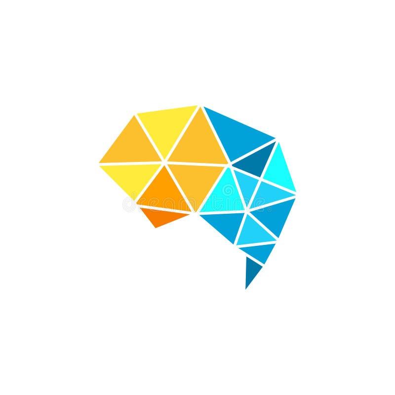 Brain vector logo design template. vector illustration