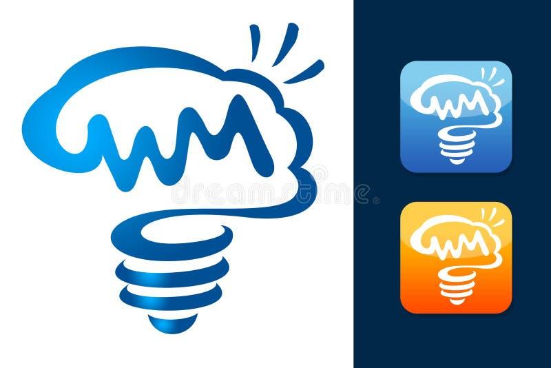 Brain Logo esperto ilustração stock