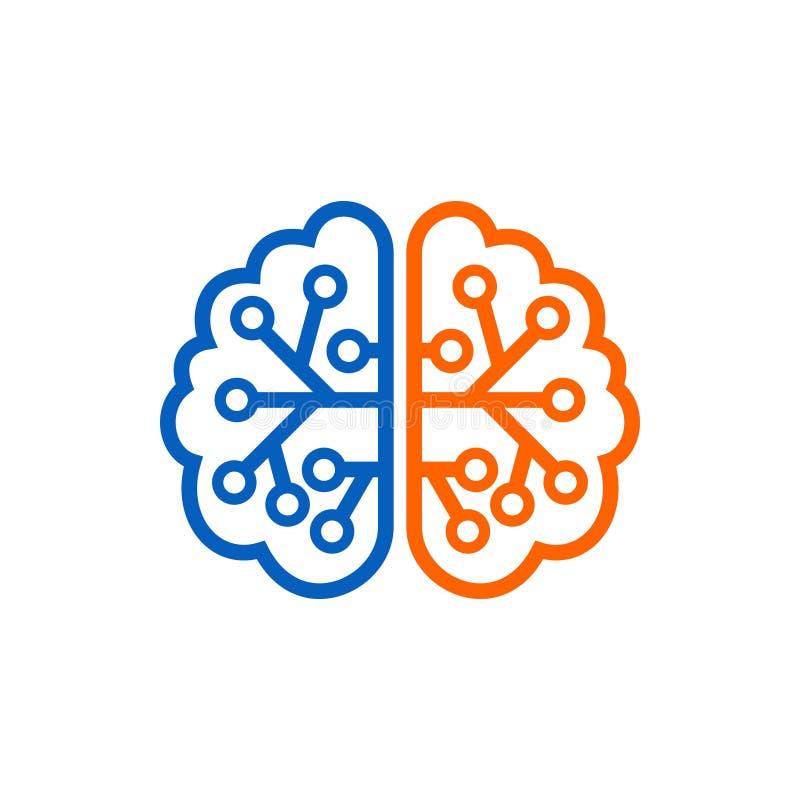 Brain Logo Template royalty illustrazione gratis