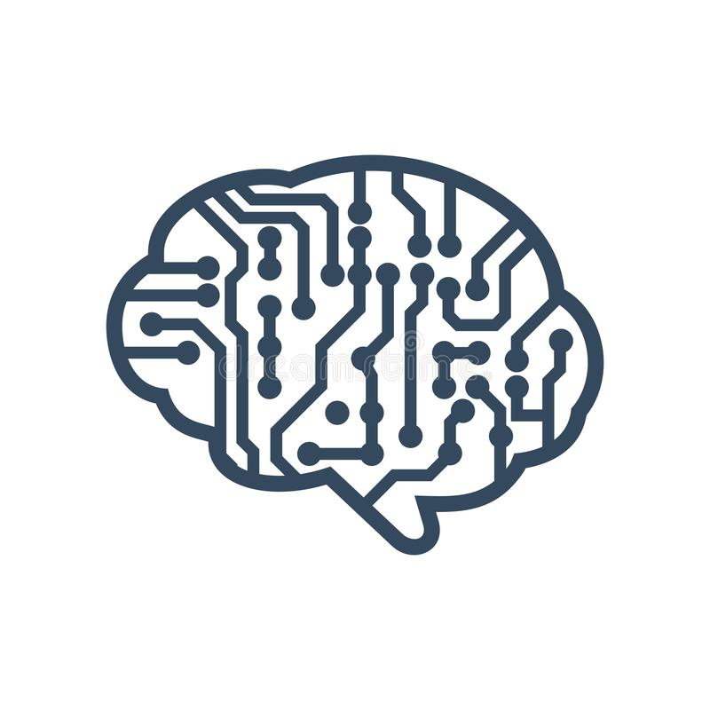 Brain Logo Template vector illustration