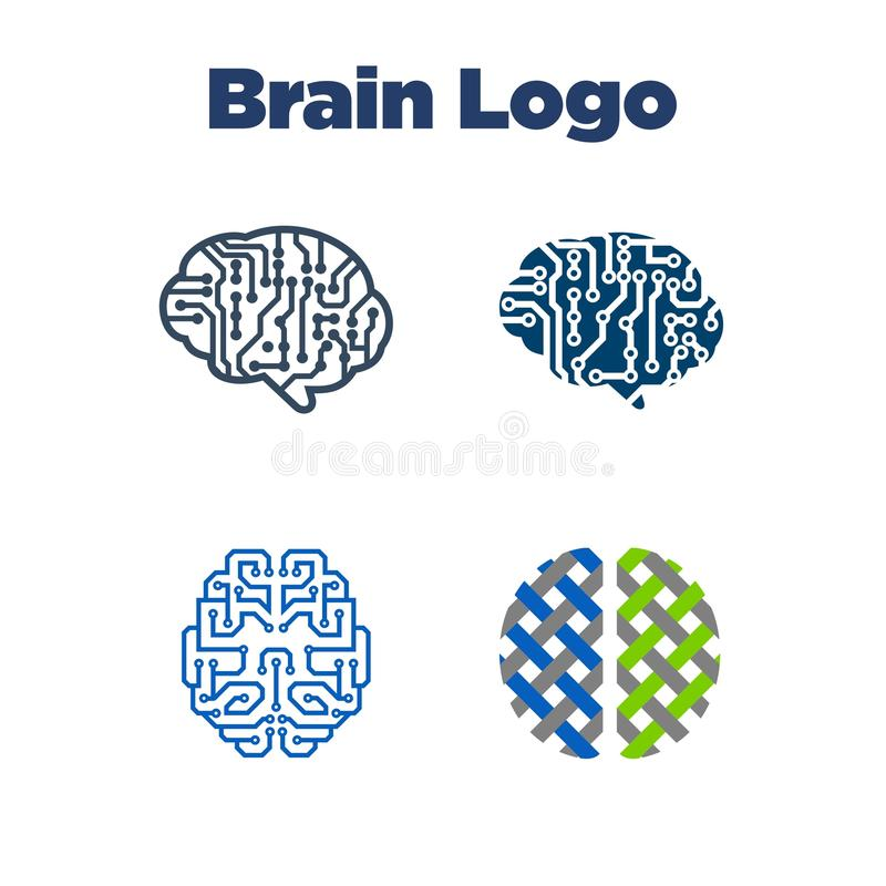Brain Logo Template royalty free illustration
