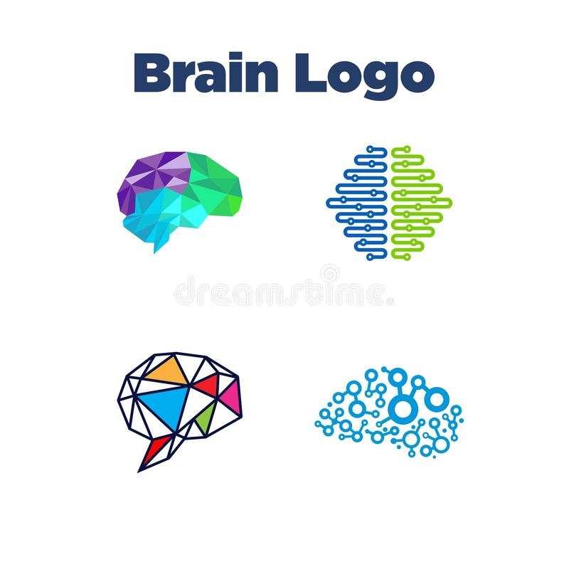 Brain Logo Template Stock Vector . Illustration Of Biology