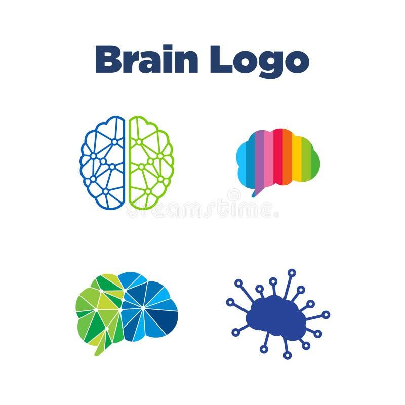 Brain Logo Template vector illustration