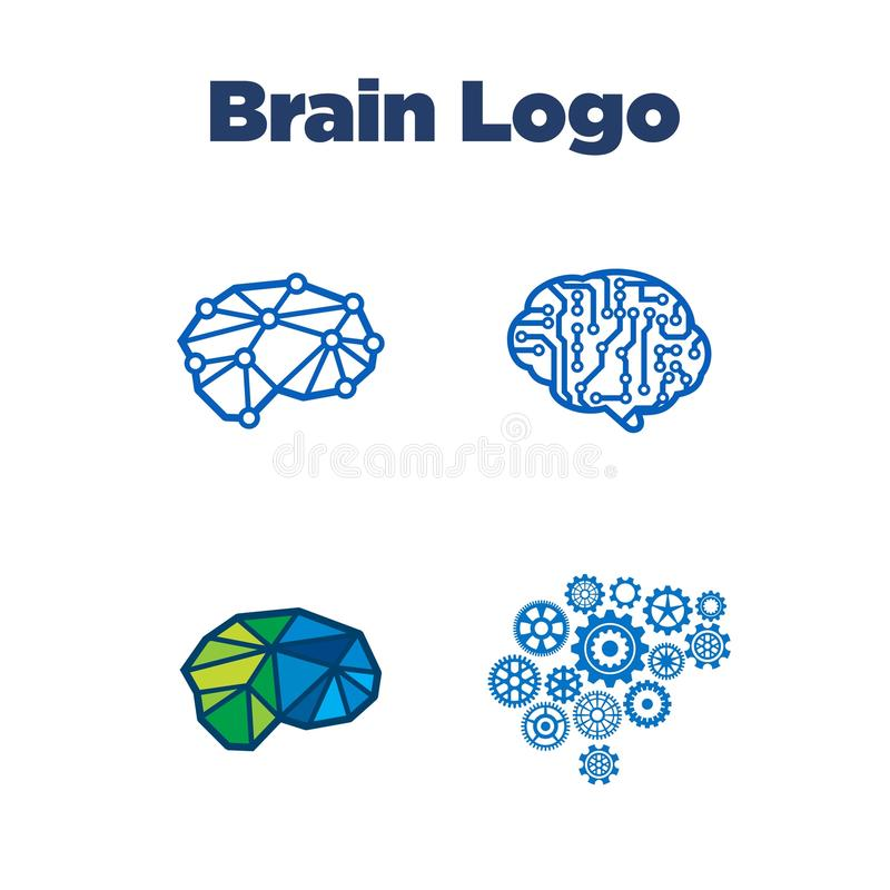 Brain Logo Template stock illustration