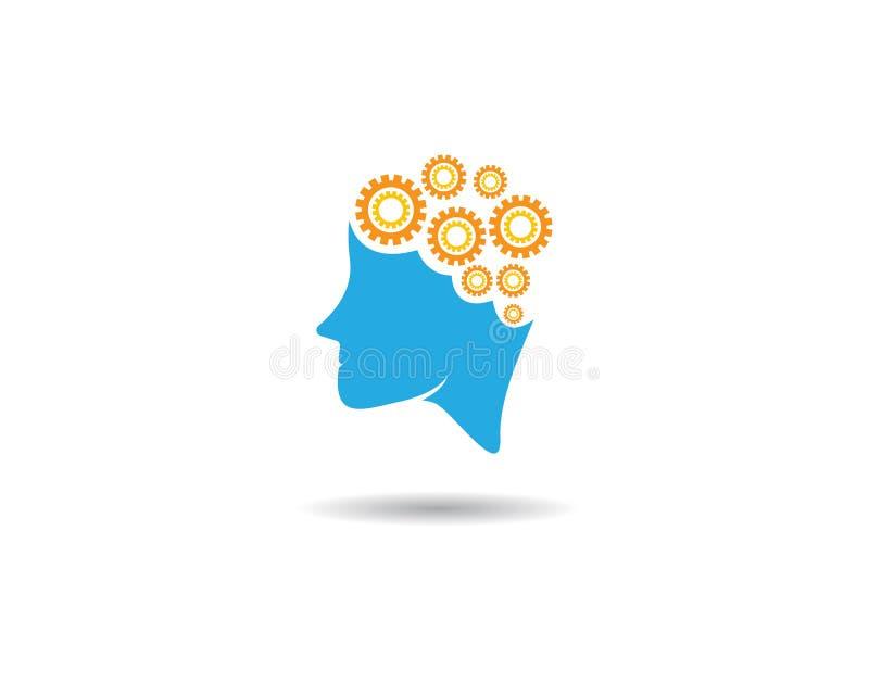 Brain Logo Template illustration libre de droits
