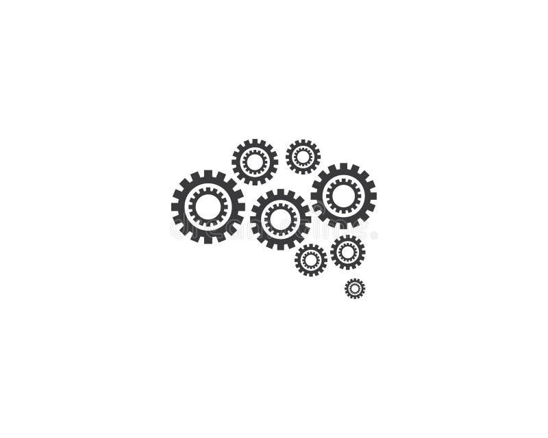 Brain Logo Template stock de ilustración