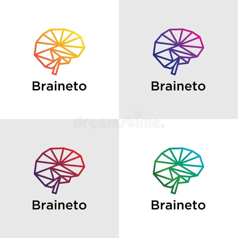 Brain Logo Template illustration de vecteur