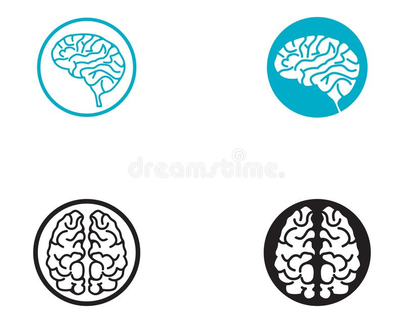 Brain Logo Template And Symbols Icons App Stock Illustration