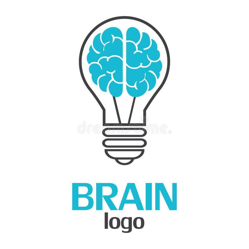 Brain logo template on a white background. Vector Illustrator Eps10 vector illustration
