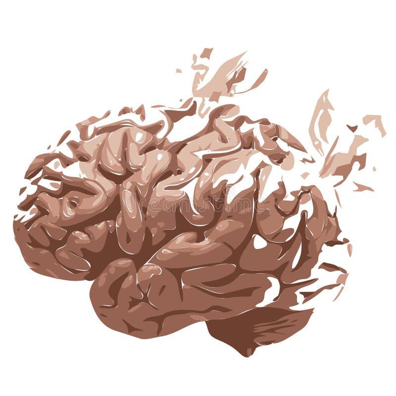 Brain Loss. Dementia, Alzheimer's, brain problems vector illustration