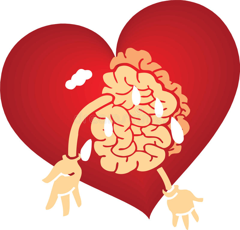 Download Brain love graphics red stock vector. Image of hearts - 14211674