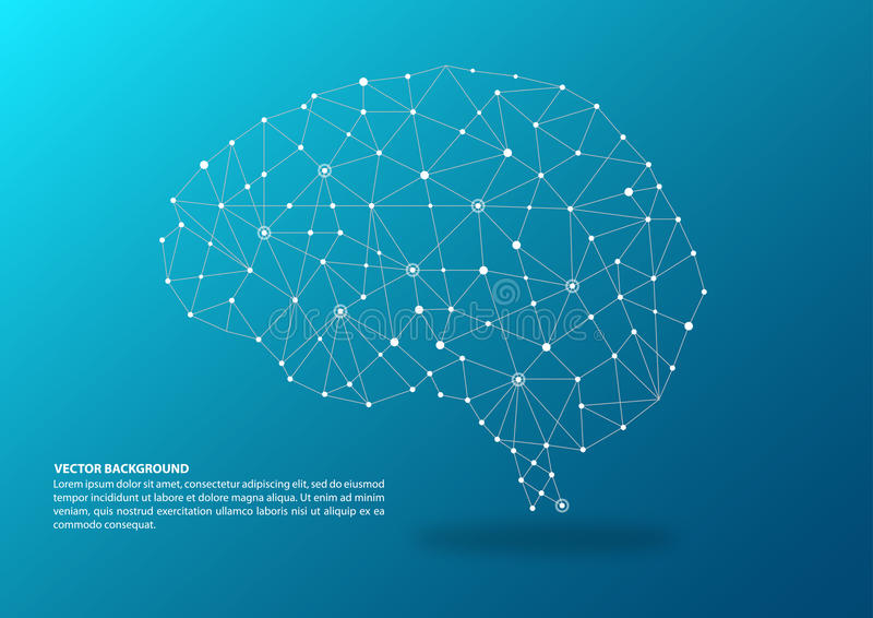Brain mapping concept royalty free illustration