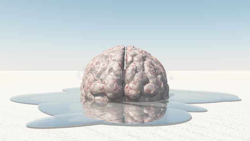 Brain Melt stock de ilustración