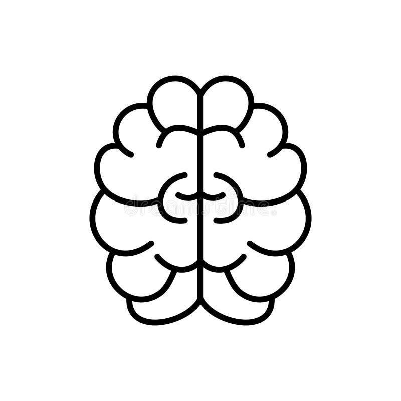 Brain, mind or intelligence outline vector icon for graphic design, logo, web site, social media, mobile app, ui illustration.  royalty free illustration