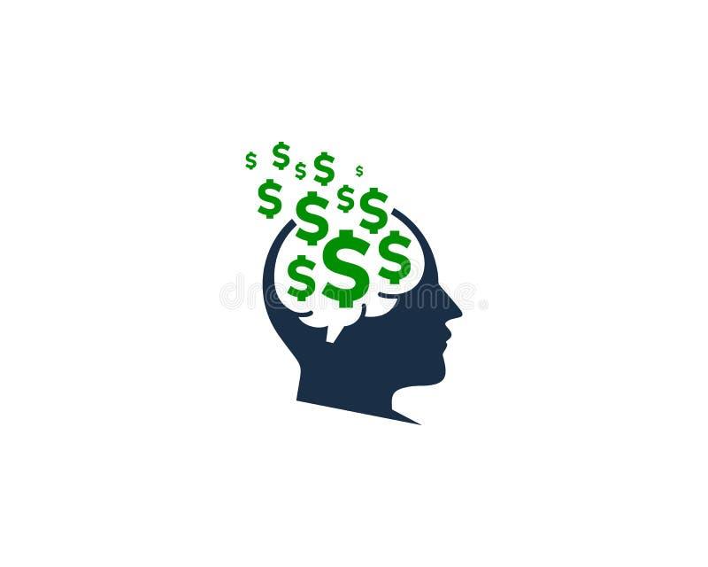 brain money icon logo design element stock vector illustration of