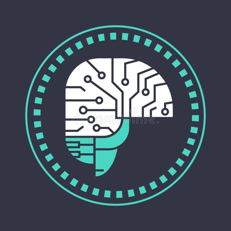 Brain Neurons Activity astratto, insegna di pensiero di concetto di intelligenza della medicina royalty illustrazione gratis