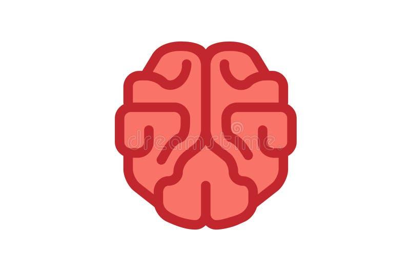 Brain Pinky Logo ilustração do vetor