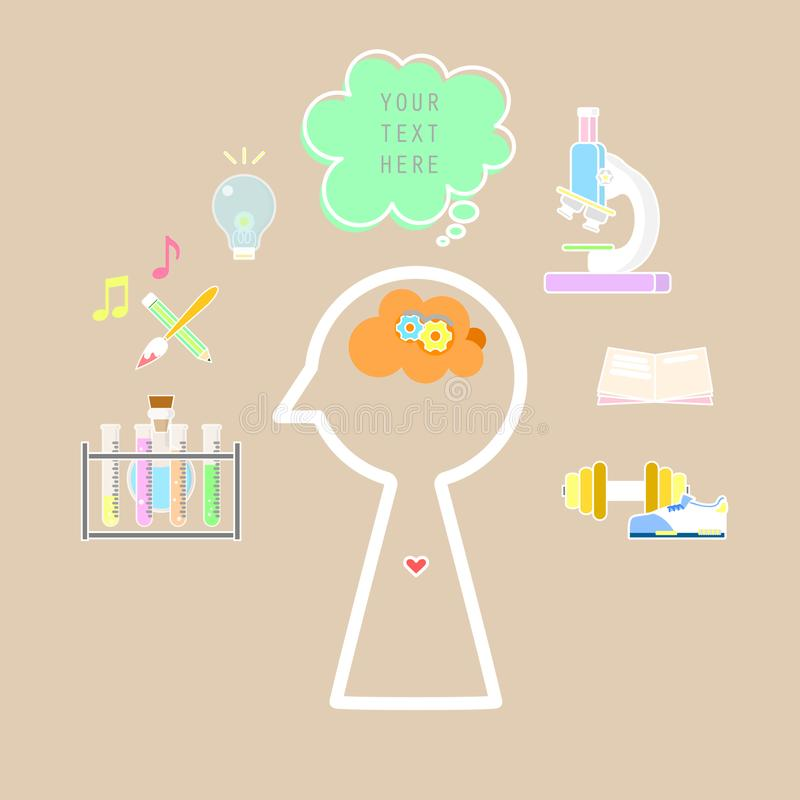 The brain power and education icon royalty free illustration