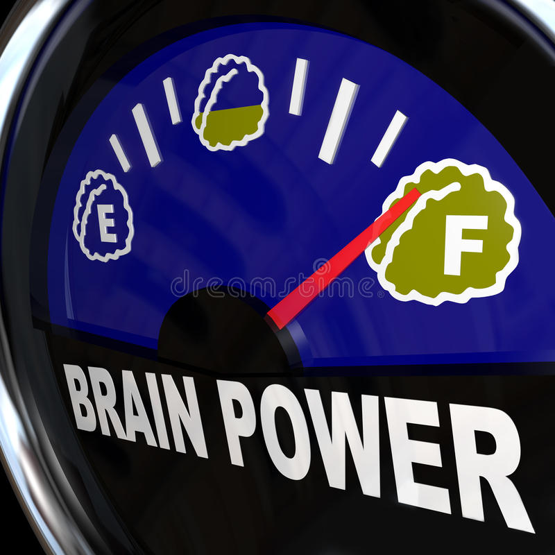 Free Brain Power Gauge Measures Creativity Intelligence Royalty Free Stock Photos - 20931418