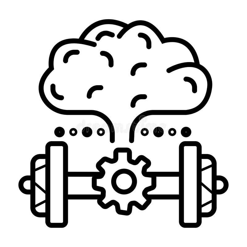 Brain Power Hj?rn?vning royaltyfri illustrationer