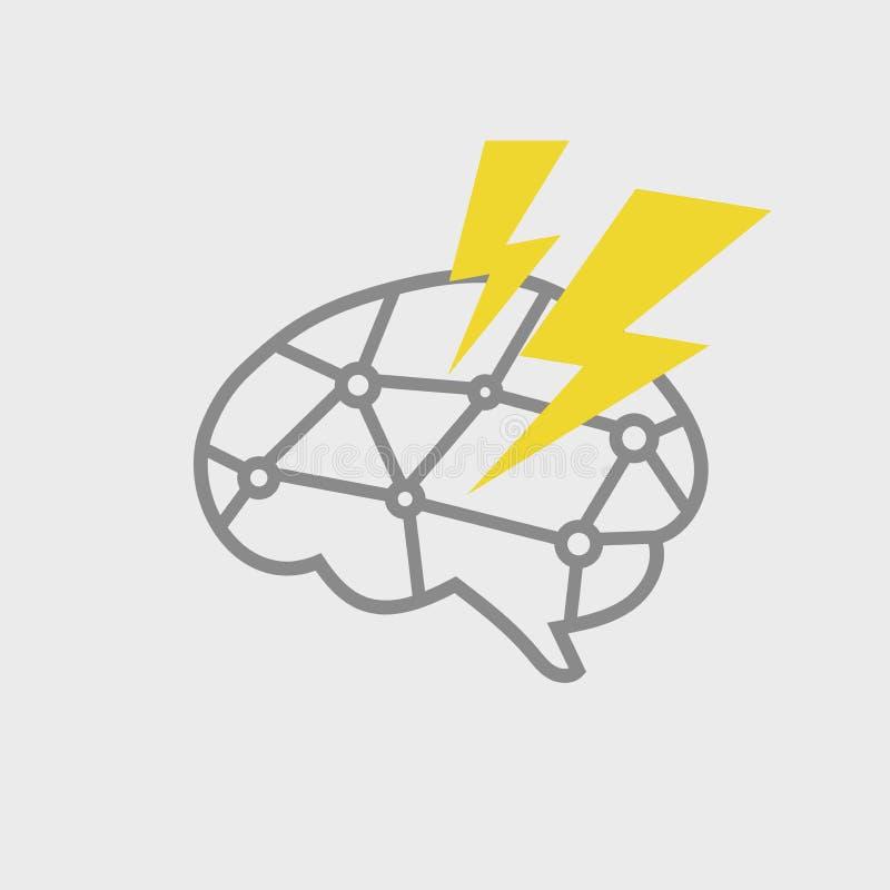 Brain Power Icon illustration stock