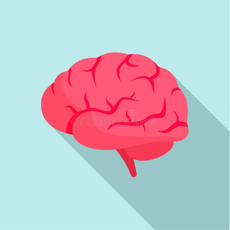 Brain power icon, flat style vector illustration
