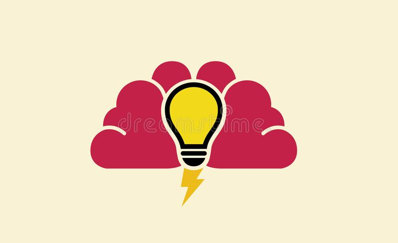 Brain Power Symbol Logo Design-Illustration lizenzfreie abbildung