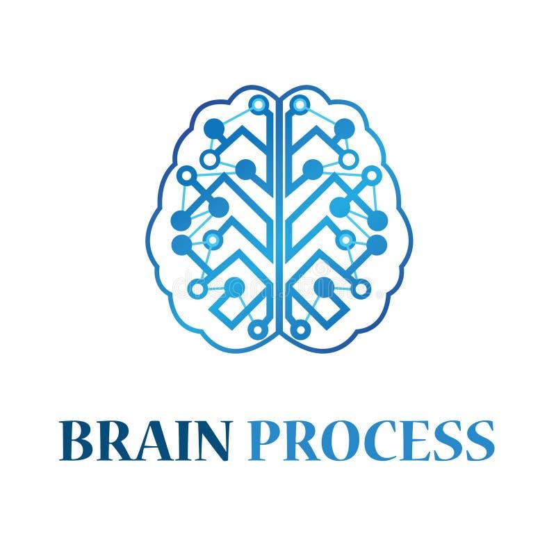 Brain Process Logo Illustration Design stock illustratie